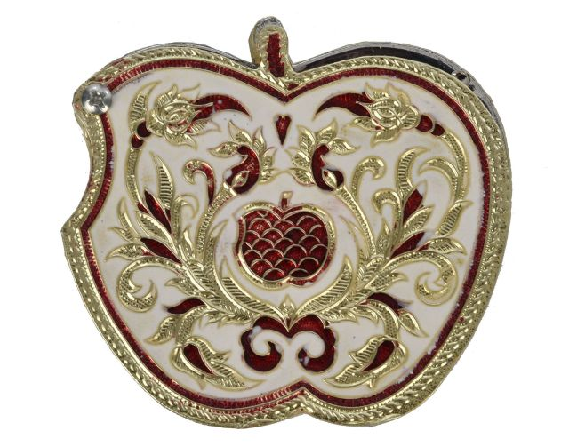 Apple shaped dry fruit box with Meenakari work