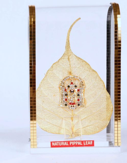 Hand crafted Natural Pepal leaf Lord Balaji full size