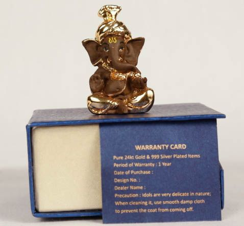 Gold plated Ganesh in black shade- 412