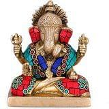 Collectible India Ganesha (Ganesh) Hindu Elephant God of Success Brass Cast I...