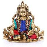 Collectible India Hindu God Kuber Idol God Kubera Lord of Wealth Treasure Sta...