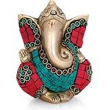 Collectible India Jolly Ganesh Idol Hindu success Good Luck God Ganesha Sculp...