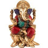 Collectible India Large Ganesh Idol Showpiece Figurine Brass Sculpture Ganesh...