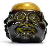 Collectible India Laughing Buddha Statue - Happy Chinese Feng Shui Brass Figu...
