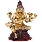 Collectible India Saraswati Idol Hindu Goddess of Knowledge, Music, Arts, and...