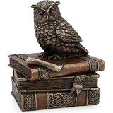 Collectible India Vintage Bronze Mythical Owl Jewelry Box Unique Decorative J...