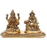 fine Brass Lakshmi Kuber Idol Indian Figurine
