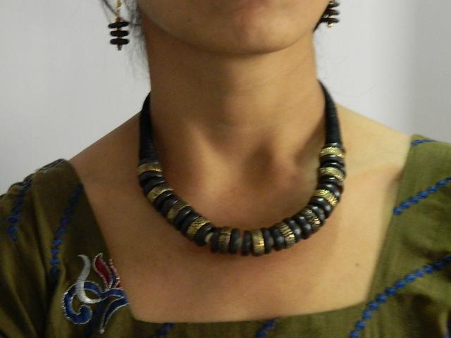 Dokra Tribal Handcrafted Necklaces And Earrings Set.