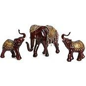 Large Mother Baby Elephant Staute - Lucky Animal Figurines - Home Decor Gift