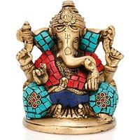 Lord Ganpati Ganesha Turquoise Decorative Indian Showpiece Gifts