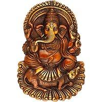 Sitting on Mouse Brass Ganesh Wall Hanging