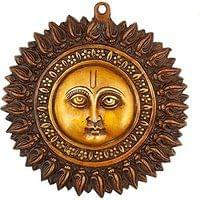 Sun Mask Religious Wall Hanging Art - Brass Sculpture Metal Plate Wall Decor ...