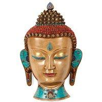 Turquoise Head Buddha/ Face Buddha Wall Hanging/ Oriental Furniture/ 15 Inche...