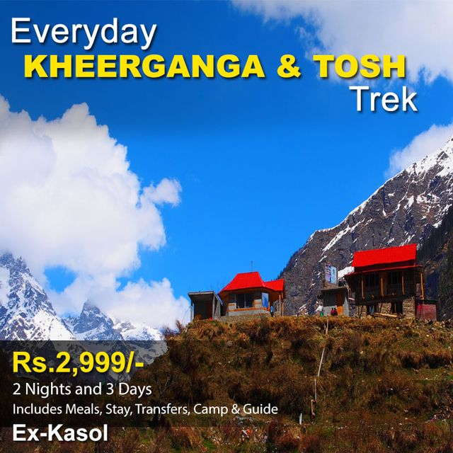 Kheerganga & Tosh Trekking & Camping - 2 Nights and 3 Days