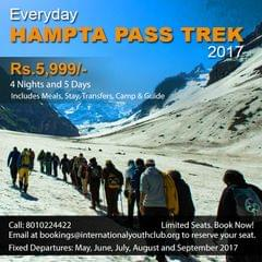 Hampta Pass Trek 2017