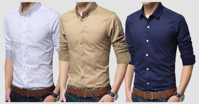 BRANDED COMBO OF 3 PURE COTTON SHIRTS