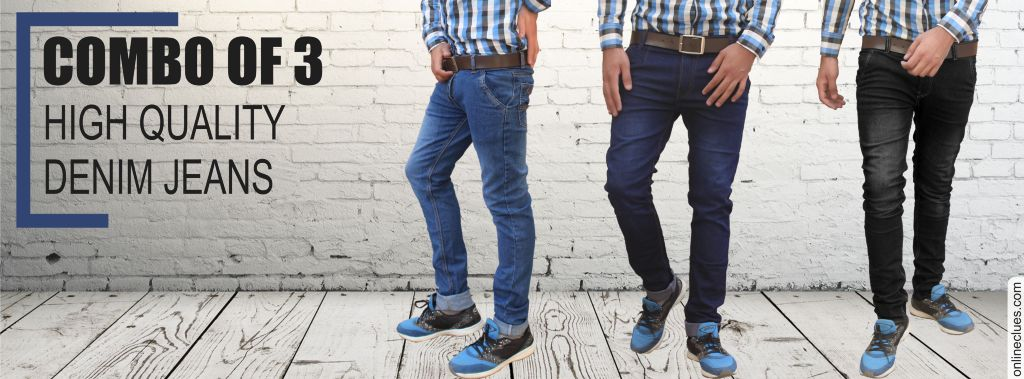 Combo Of 3 High Quality Denim Jeans