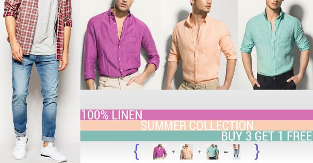 London Looks Special Offer Buy 3 Linen Shirts & Get 1 Jean Free !