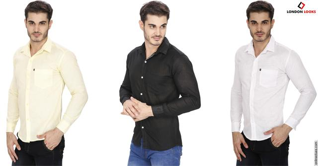 London Looks 3 Pure Linen Shirts Offer!