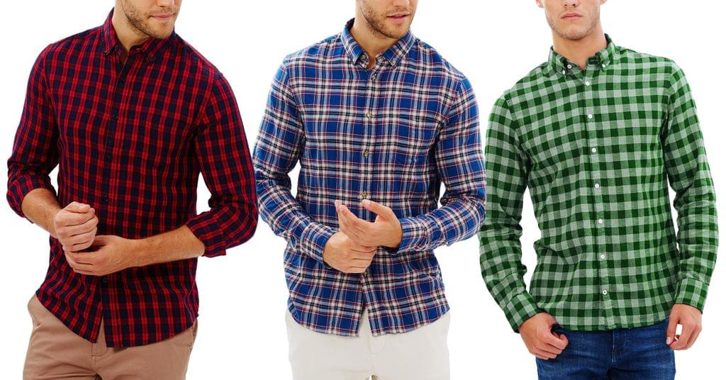 London Looks Exclusive Combo Of 3 Check Shirts!