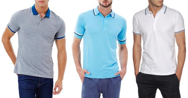 Branded London Looks Polo T-shirt (Pack Of 3) Flat 50% Off !