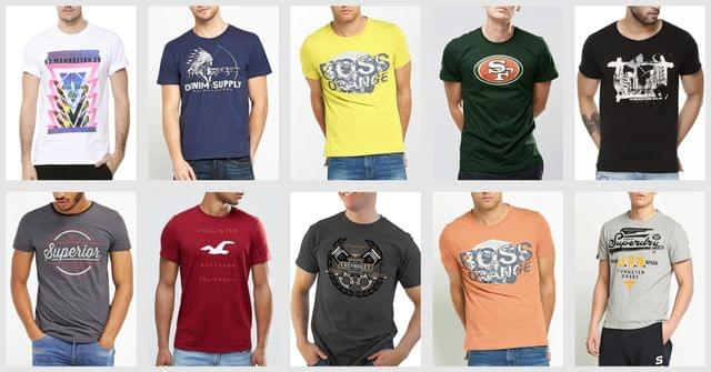 London Looks Printed Cotton T-shirts (Pack Of 10)