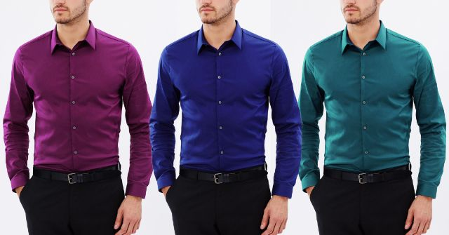 LONDON LOOKS Combo Of 3 Solid Shirts !