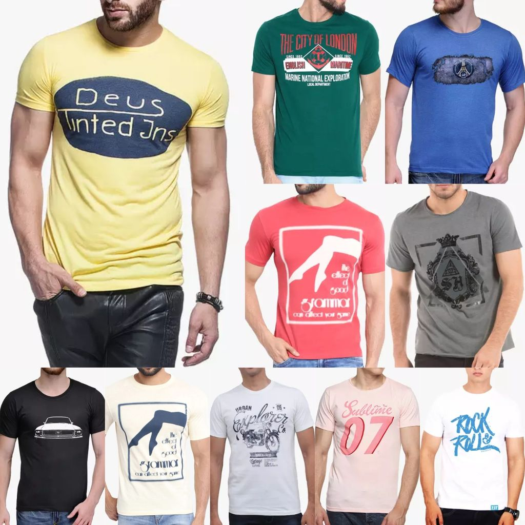 London Looks Fusion Of 10 Printed T-Shirts !