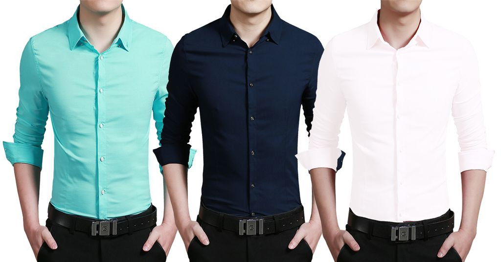 London Looks Men's 3 Regular Fit Casual Solid Shirts !
