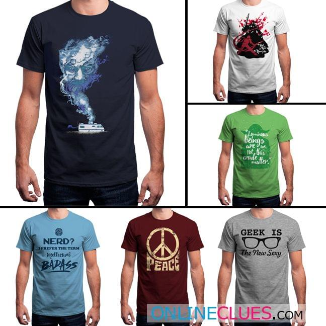 London Looks Men's 6 Round Neck Printed T-Shirts !