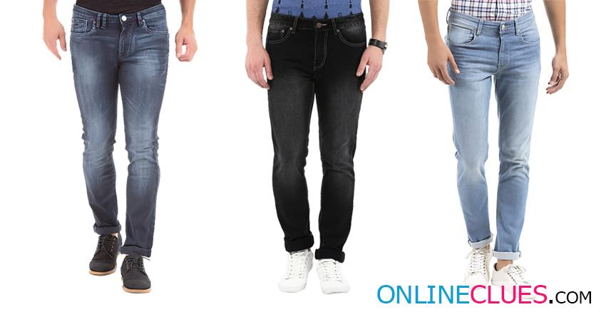 London Looks Men's 3 Combo Of Slim-Fit Denim Jeans!