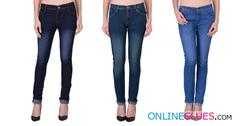 London Looks Women's 3 Slim-Fit Mid-RIse Denim Jeans !