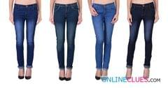 London Looks Brand Women's 4 Combo Of Skinny-Fit Denim Jeans