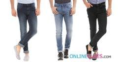 London Looks Branded Men's 3 Combo Of Slim-Fit Denim Jeans !