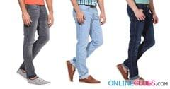 Combo Of 3 London Looks Branded Mid-Rise Slim-Fit Denim Jeans
