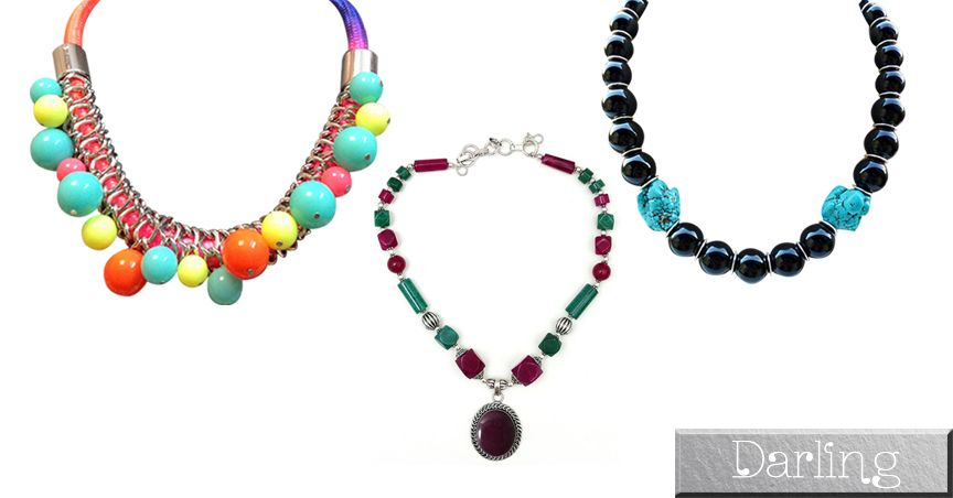 Branded Darling Multicolour Funky Style Pearl Necklace Sets !