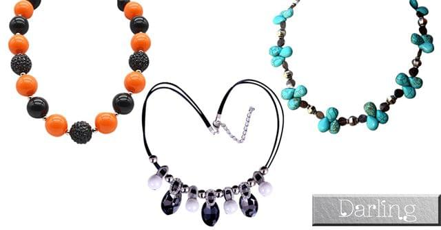 Darling Brand Combo Of 3 colorful Funky Style Necklace Set!