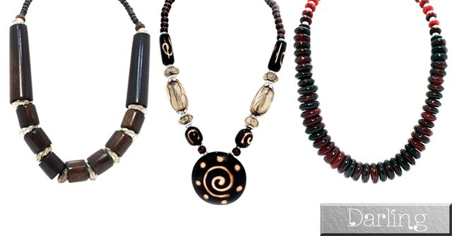 Darling Brand Combo Of 3 colorful Funky Style Stoned Necklace Set!