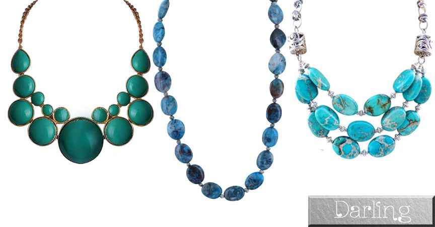 Darling Brand - 3 Multicolor Funky Style Stone Necklace Set!