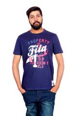 FILA Men's Half Sleeve Blue T-Shirt!