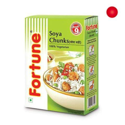 Fortune Soya chunks, 200 gm Carton