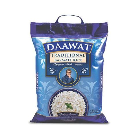 Daawat Basmati Rice - Traditional, 5 kg Pouch