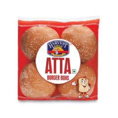Harvest Gold Buns - Atta Burger, 250 gm Pouch