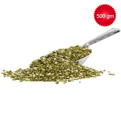 Loose  Green Moong Split/Chilka, 500 gm Pouch