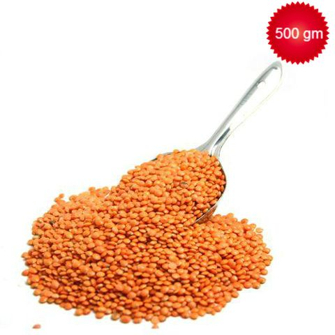Loose Red Masoor Dal Whole, 500 gm Pouch