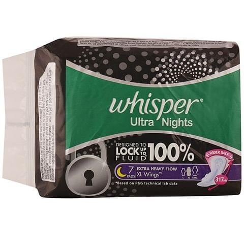 Whisper Ultra Nights Extra Heavy Flow Extra Large Wings 7N