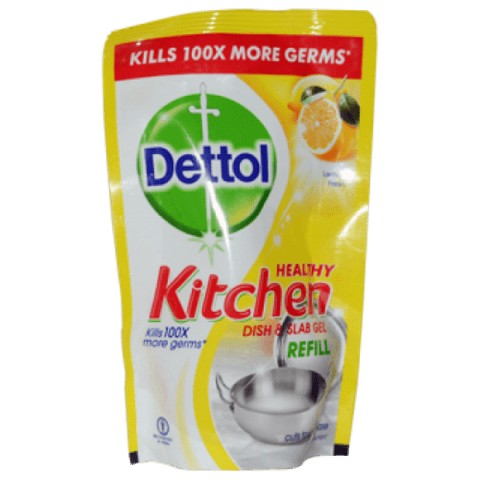 Dettol Kitchen Dish & Slab Gel - Lemon Fresh (Refill), 130 ml