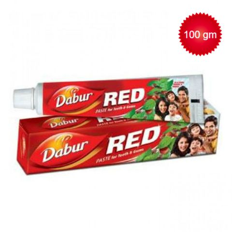 Dabur Red Toothpaste - Red (Laung Pudina & Tomar), 100 gm Tube