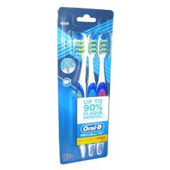 Oral-B Tooth Brush Pro Health - Medium, Combi ( Buy 2 & Get 1 Free )
