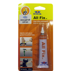 Fevicol All Fix Clear & Non-Staining All Purpose Adhesive 20 ml